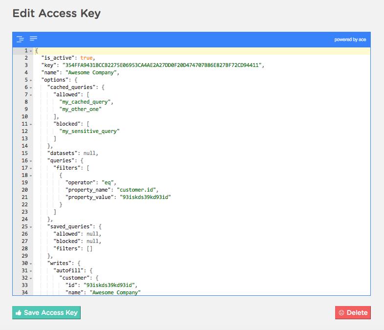 Access Keys | Keen
