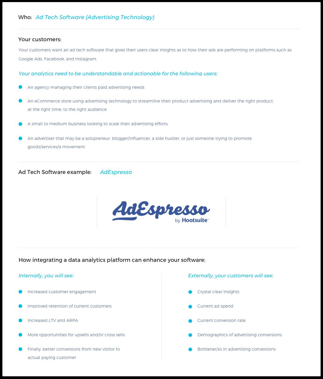 AdTech Software Example