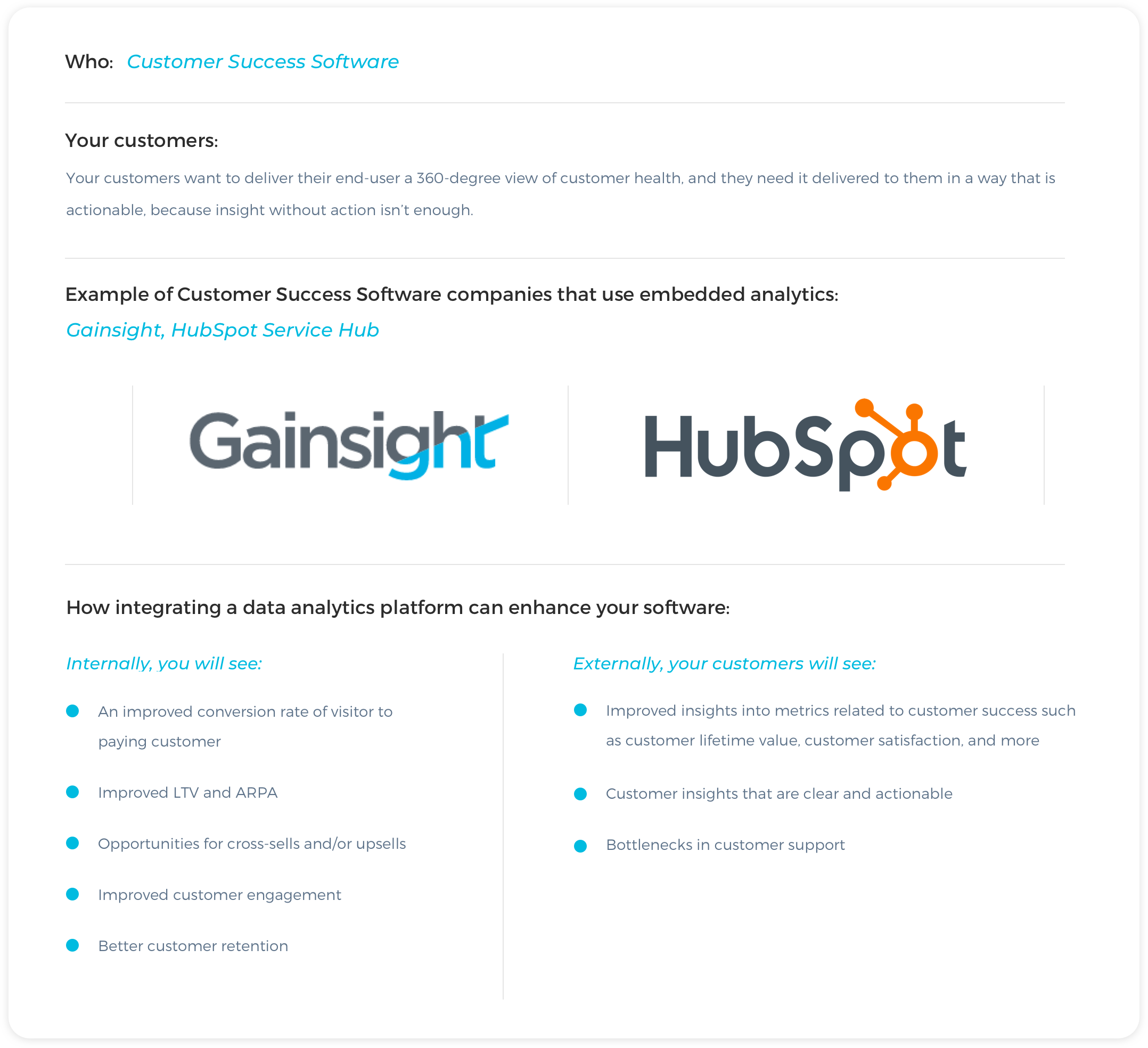 Customer Success Software Examples