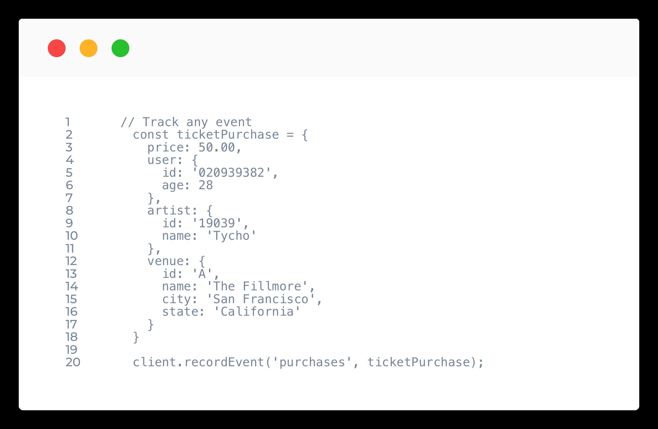 example API call